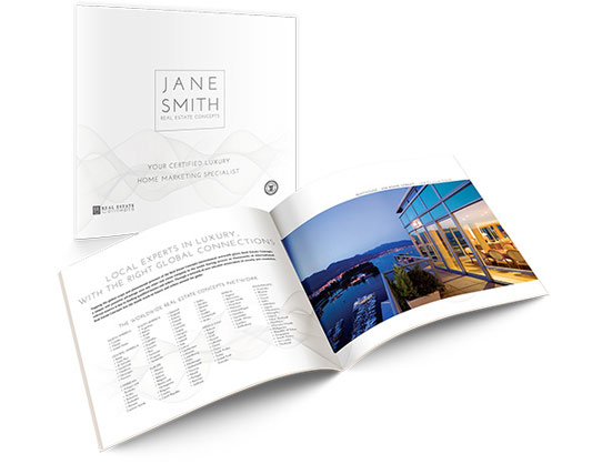 Pre-listing Marketing Book</br>11×10 Soft Cover</br>$19.95 - $49.95 each