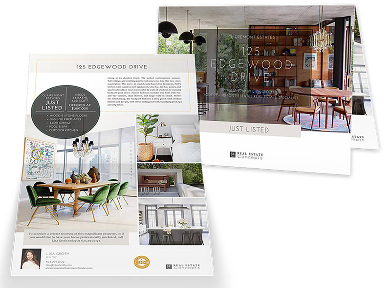 11×17 Property Brochures</br>(Landscape) $1.49 - $1.99 each